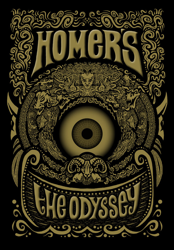 Homer's The Odyssey – Book Cover Mock Up - The Underground Merry ...
